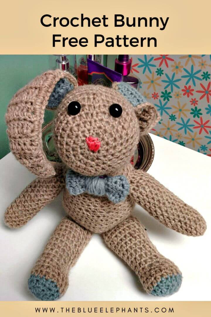 Crochet Bunny Free Pattern+Tutorial