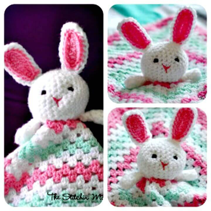 How To Crochet Bunny Lovey – Free Pattern