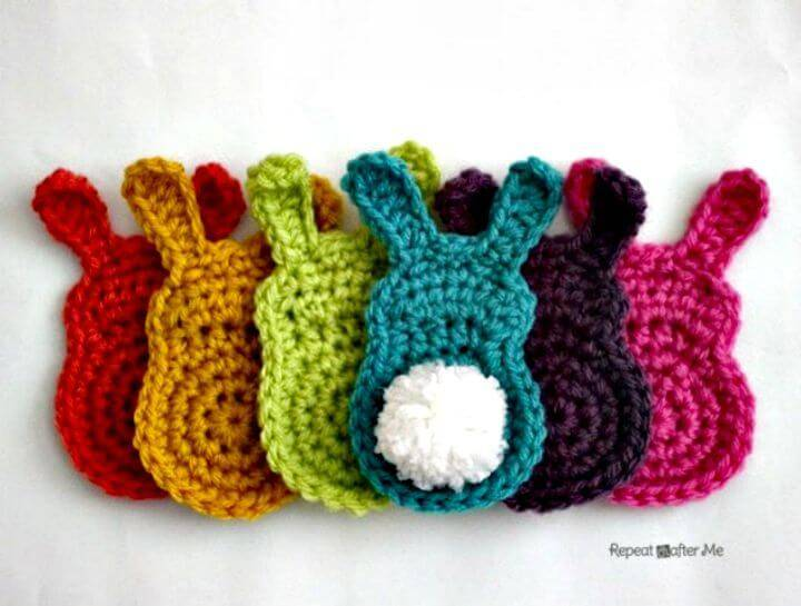 Free Crochet Bunny Silhouette Appliques Pattern