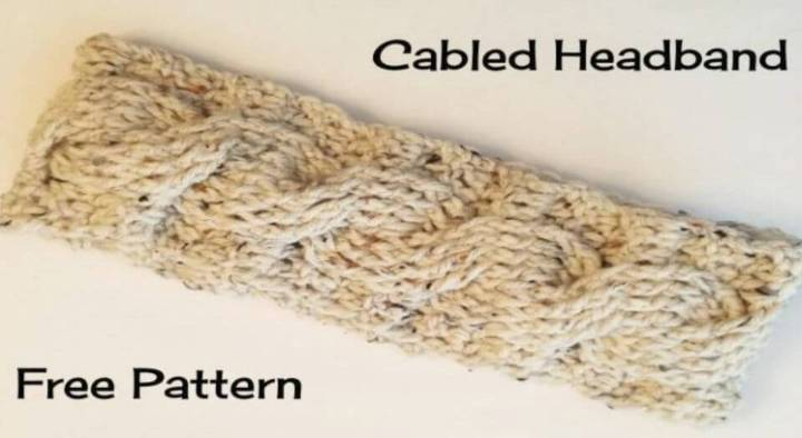 How To Crochet Cabled Headband – Free Pattern