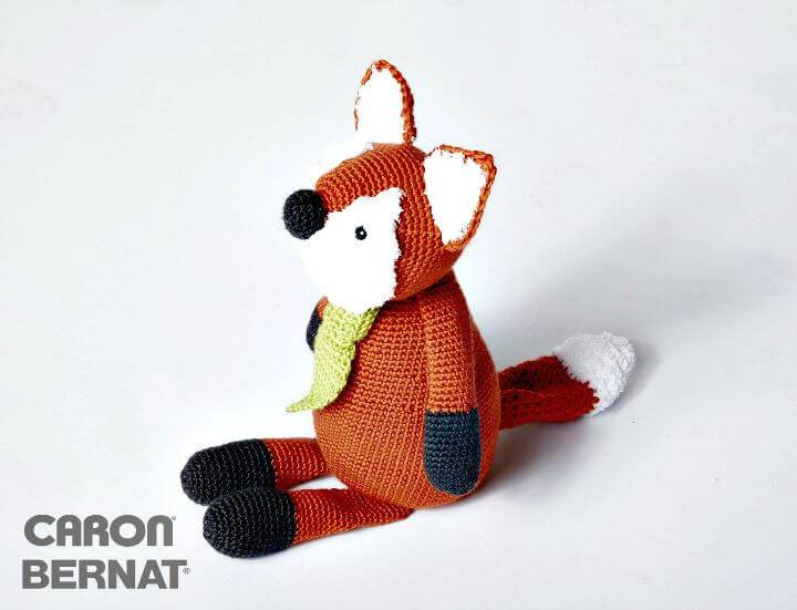 Free Crochet Toy Caron Francis The Fox Pattern