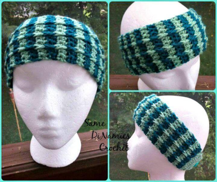 Free Crochet Cascading Cables Headband Pattern