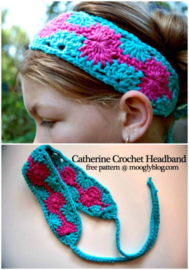 How To Free Crochet Catherine Headband Pattern
