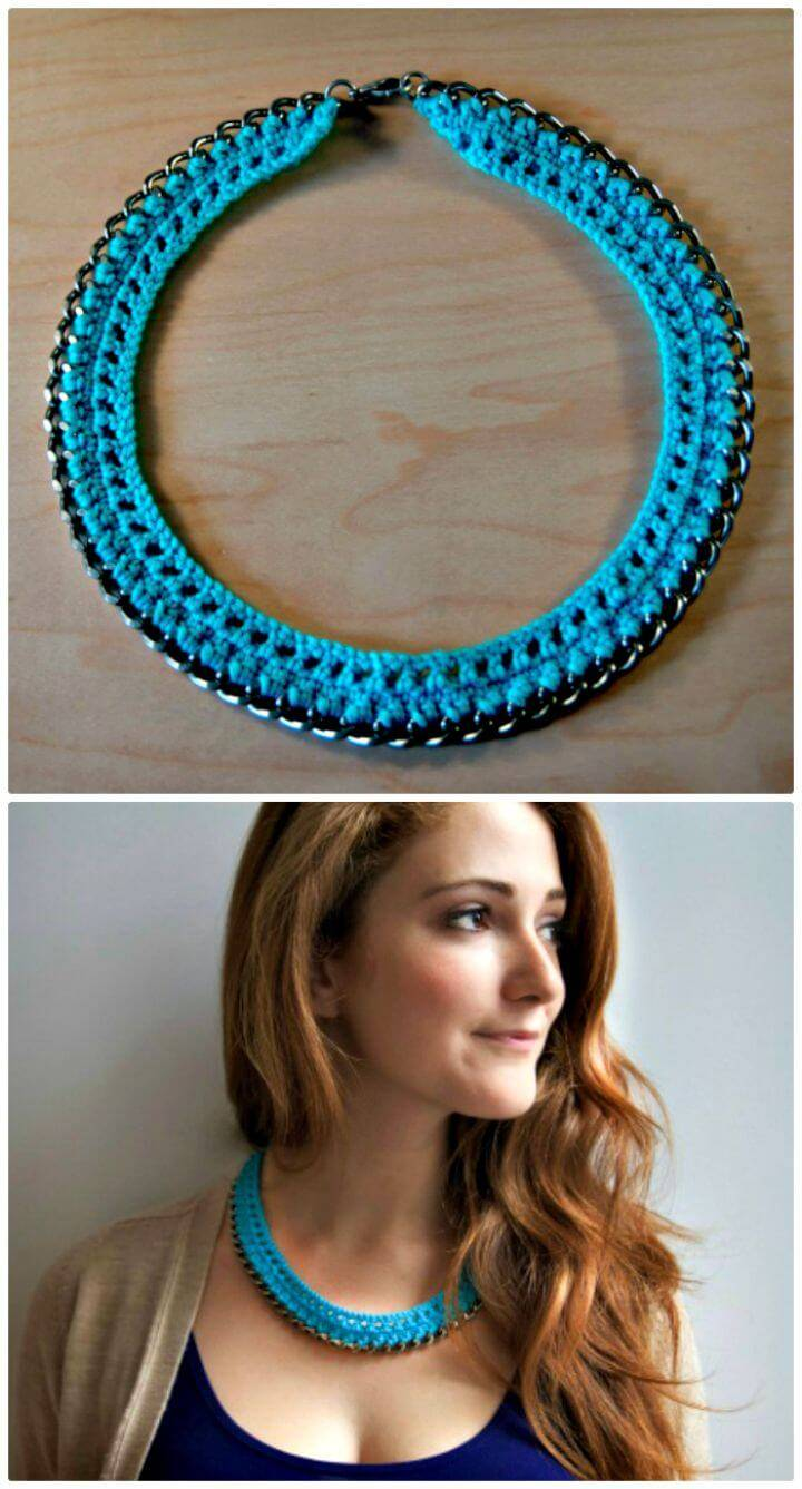 Free Crochet Chain Necklace Pattern