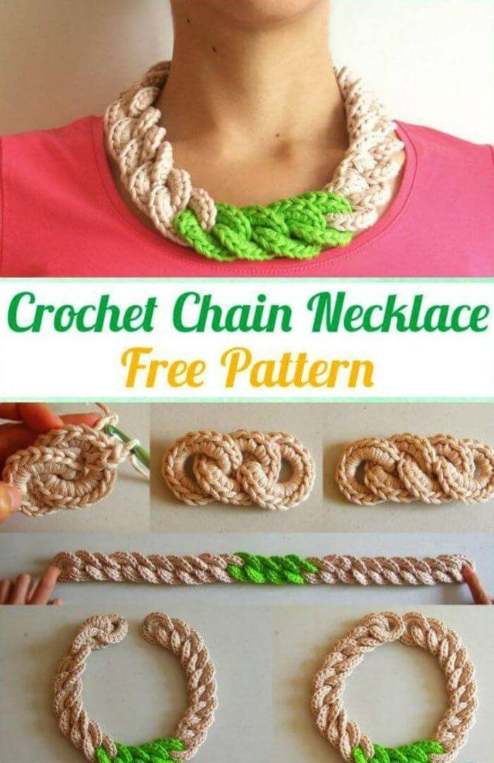 Crochet Chain Necklace Free Pattern With Tutorial