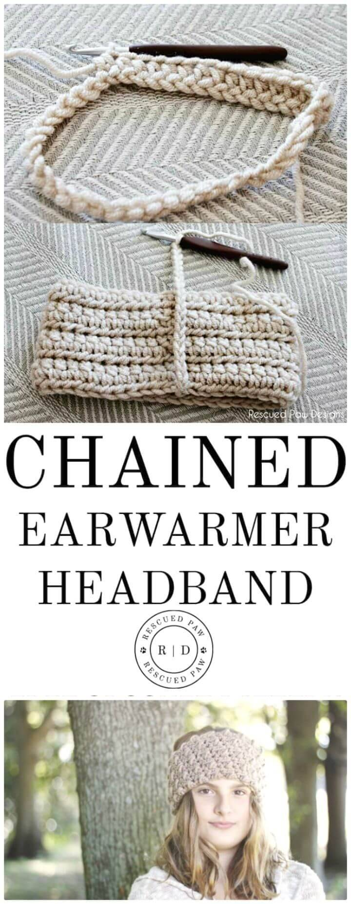 How To Crochet Chained Headband - Free Pattern