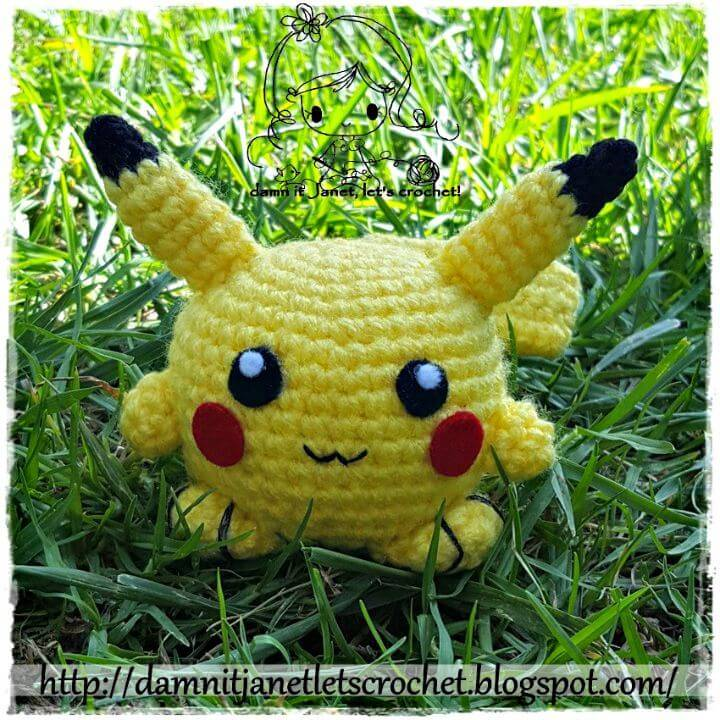 Free Crochet Chibi Pikachu Amigurumi Pattern