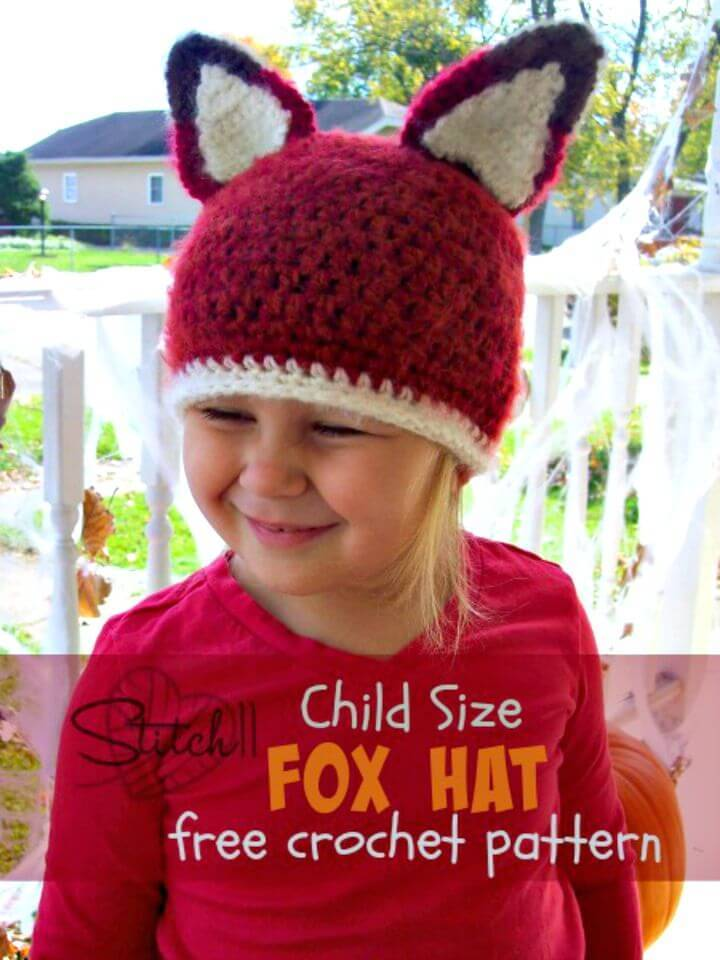 How To Crochet Child Size Fox Hat–Free Pattern