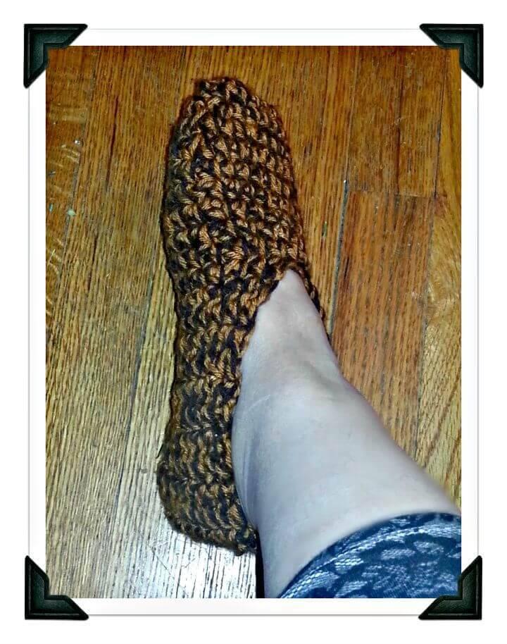 Free Crochet Chocolate Caramel Slippers