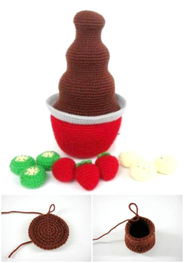 How To Crochet Chocolate Fountain - Free Pattern