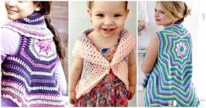 Crochet Circular Vest / Jacket 10 FREE Crochet Patterns