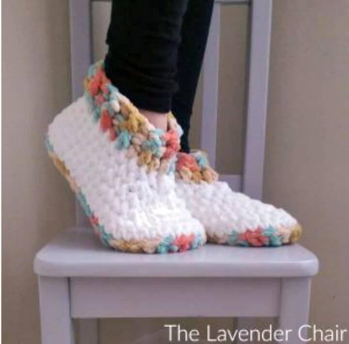 Easy Free Crochet Cloud Slipper Pattern