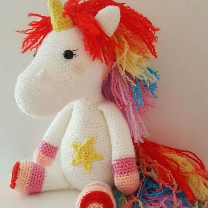 Crochet Colorful Zebra - Free Pattern