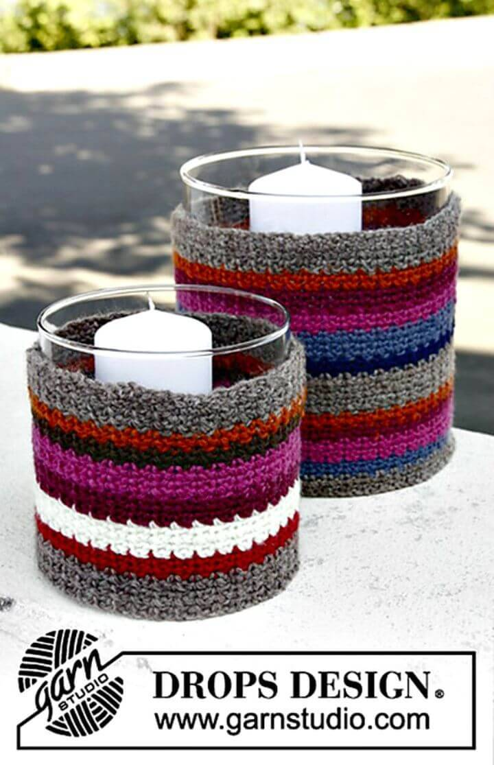 How To Crochet Cottage Candle - Free Pattern
