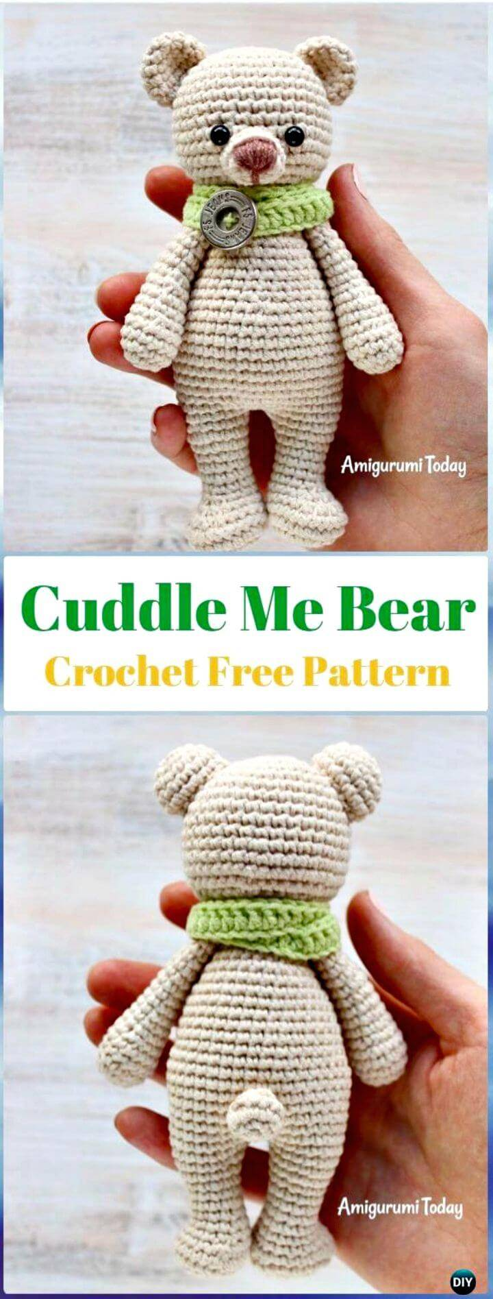 Free Crochet Cuddle Me Teddy Bear Pattern
