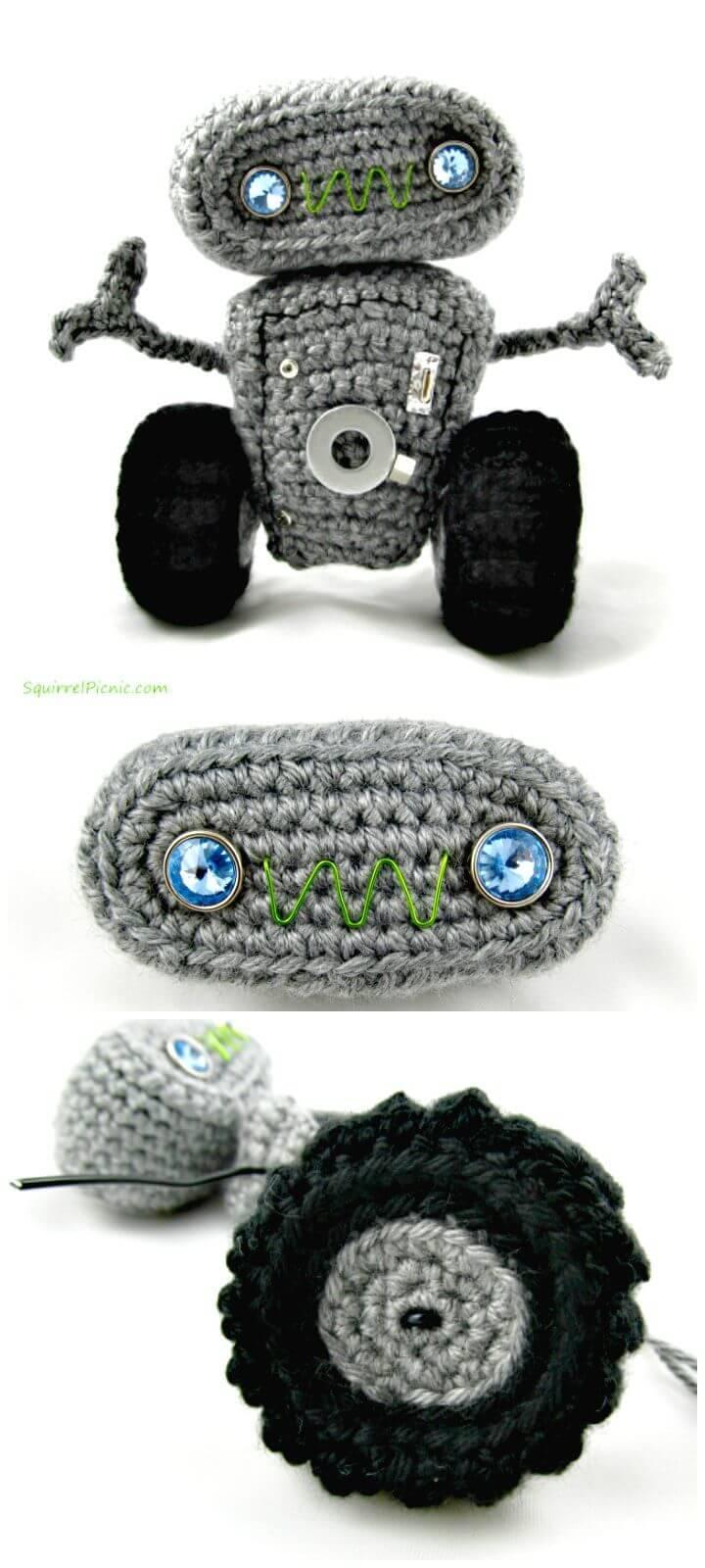 Crochet Cuddly Robot - Free Amigurumi Pattern