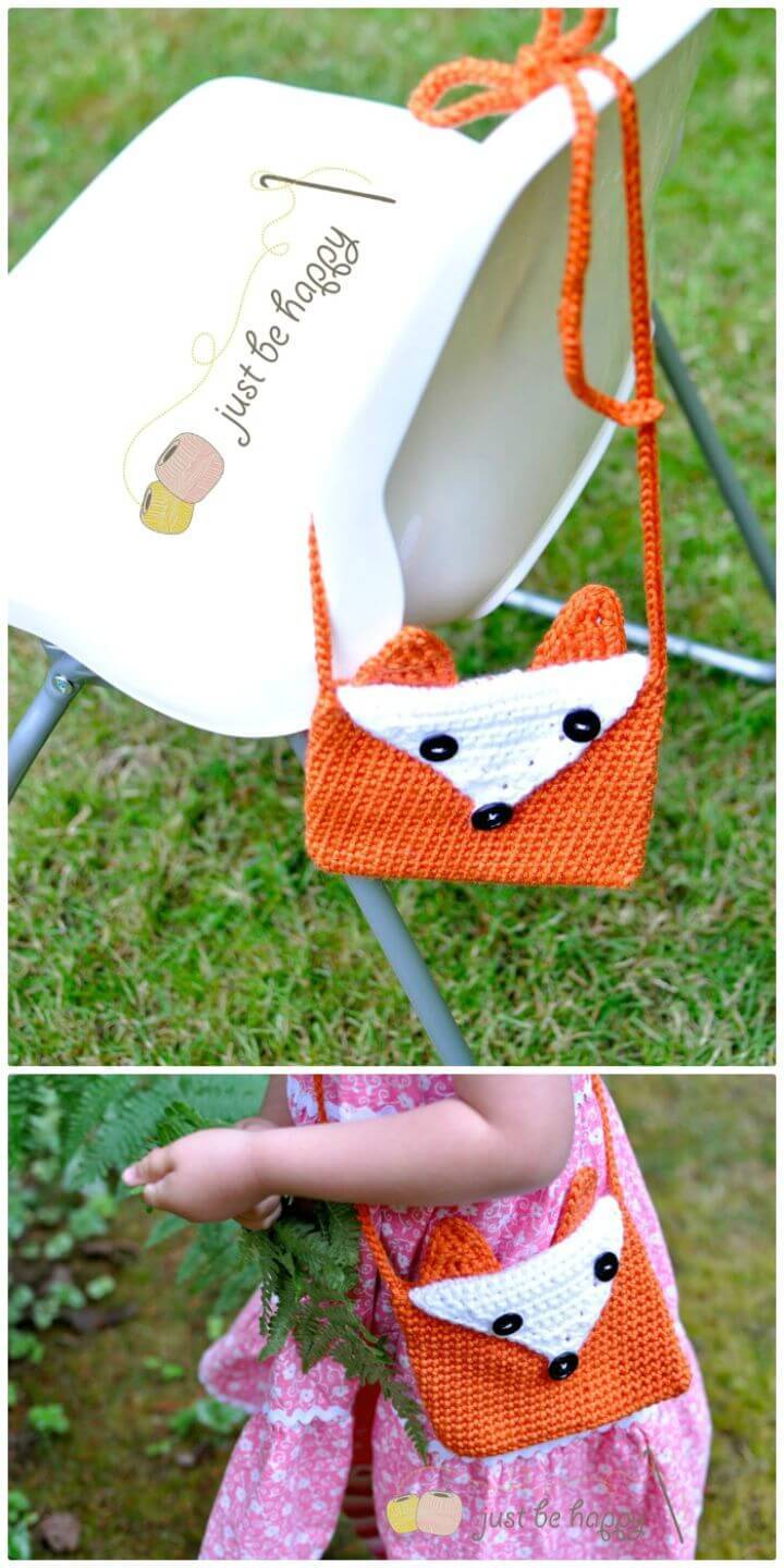 How To Crochet Cute Fox Purse Pattern