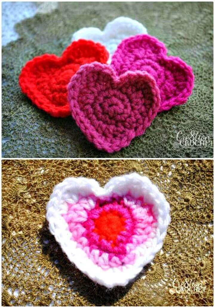 Crochet Cute Heart Pattern - Free Valentine Pattern