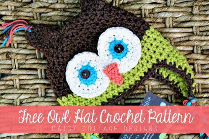 How To Crochet Cute Owl Hat - Free Pattern