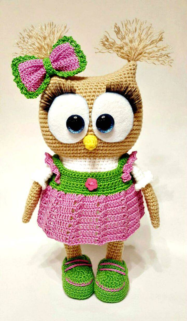 Crochet Cute Owl In Dress Amigurumi Pattern