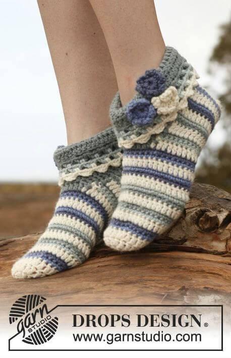 Free Crochet Cute Slippers In Nepal
