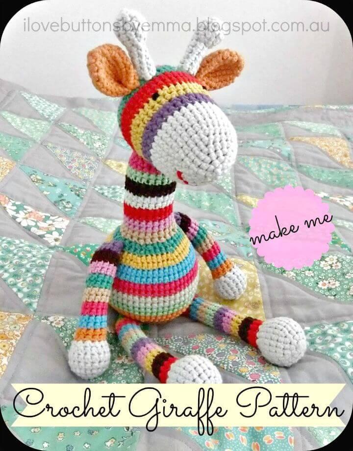 Easy Crochet Stripy Giraffe - Free Pattern