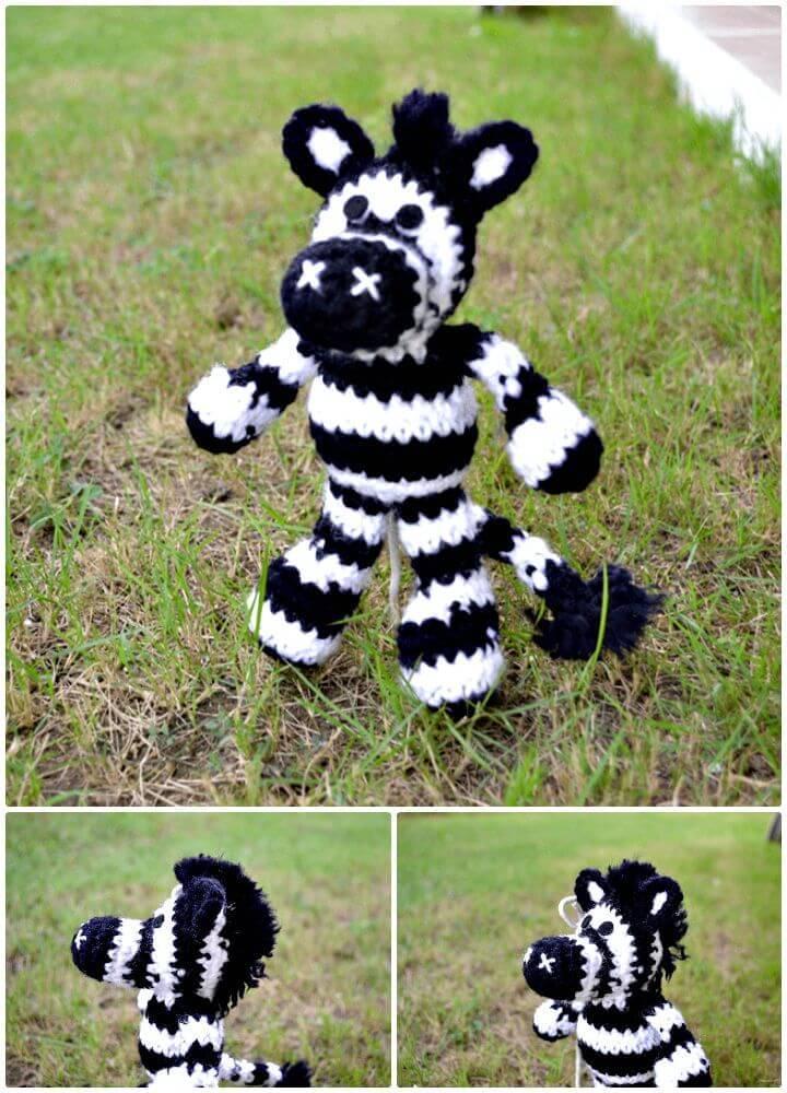 Free Crochet Cute Zebra Pattern