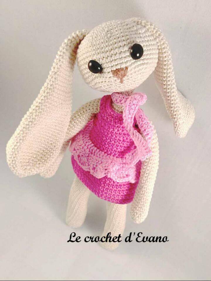 Free Crochet Daisy The Easter Bunny Pattern
