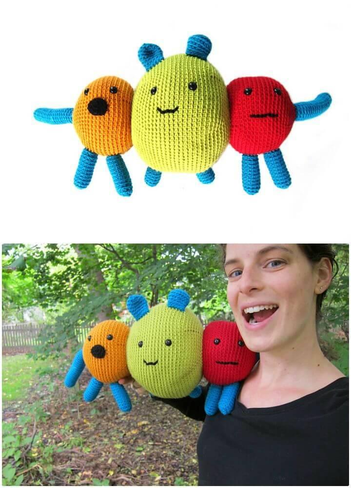 How To Crochet Deek the Monster Amigurumi Pattern
