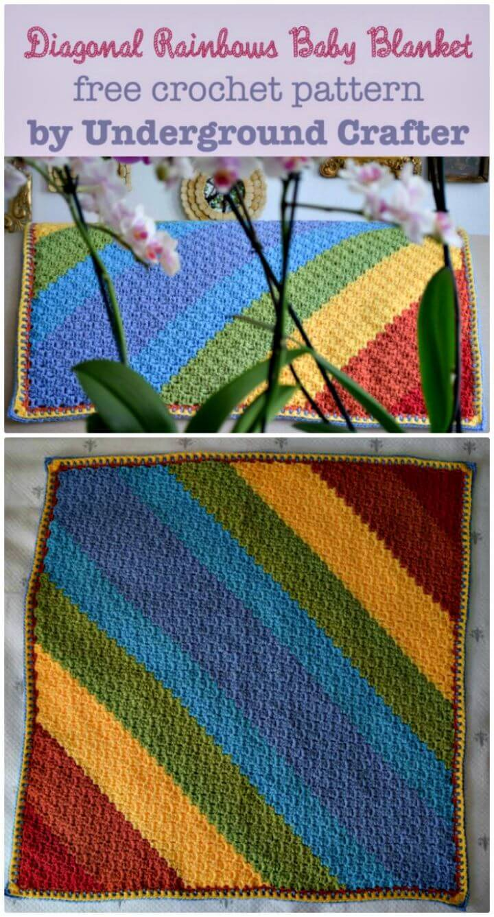 55 Free Crochet Rainbow Patterns 14 Rainbow Blanket Diy Crafts