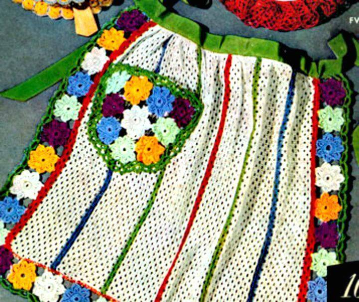 How To Free Crochet Dish Cloth Apron Pattern