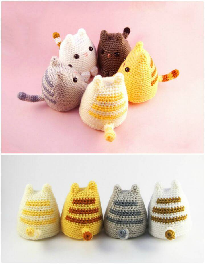 How To Crochet Dumpling Cat Amigurumi - Free Pattern