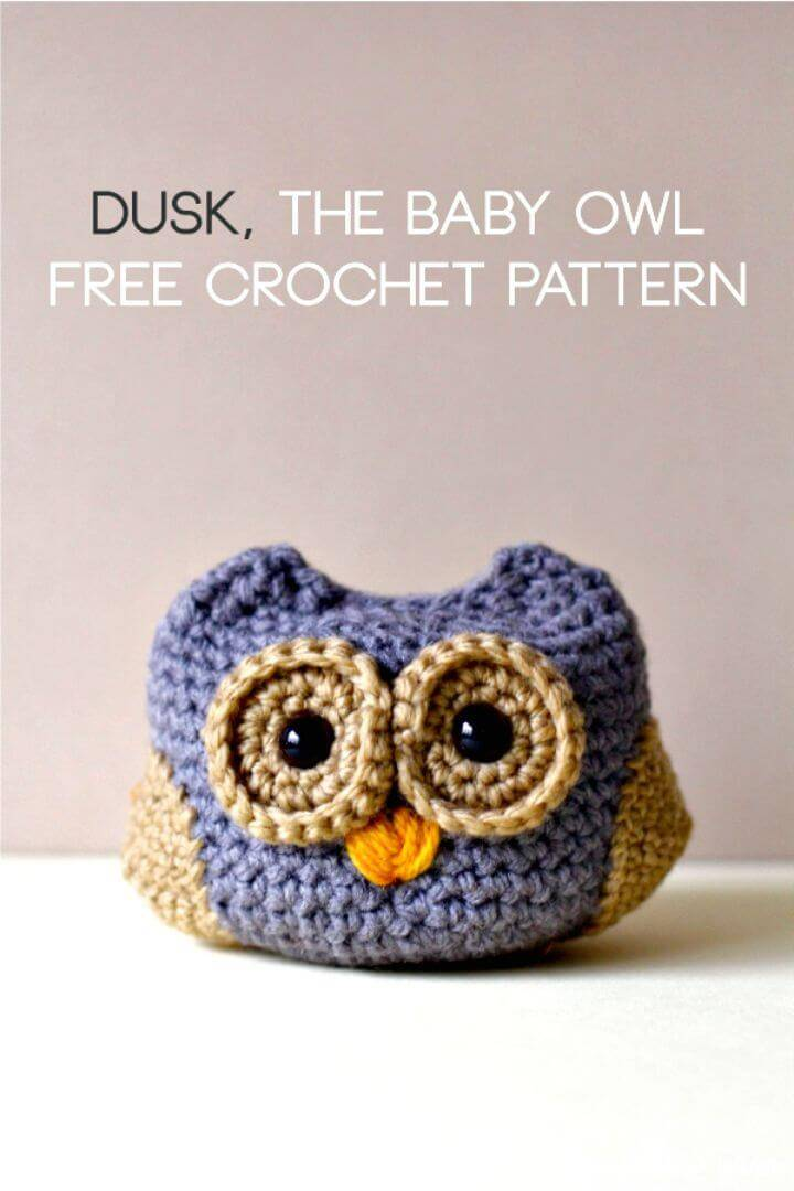 Crochet Dusk the Baby Owl – FREE Pattern