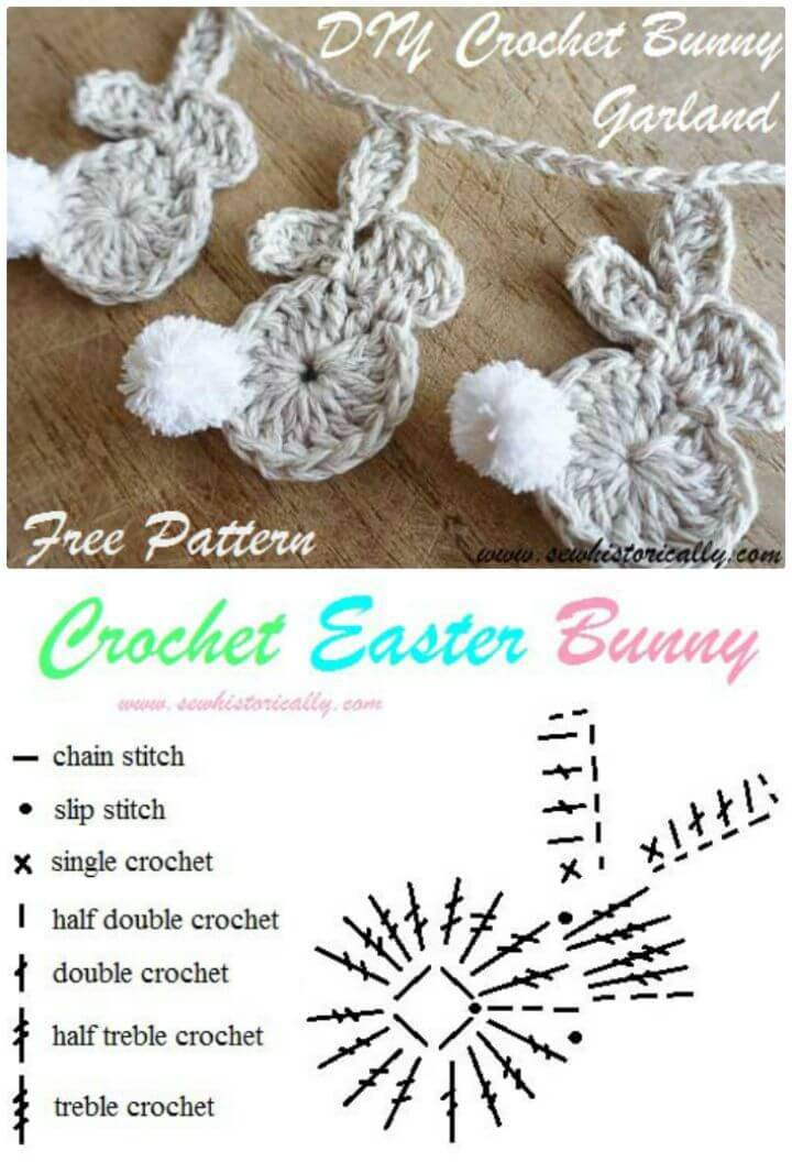 Free Easy Crochet Easter Bunny Garland Pattern