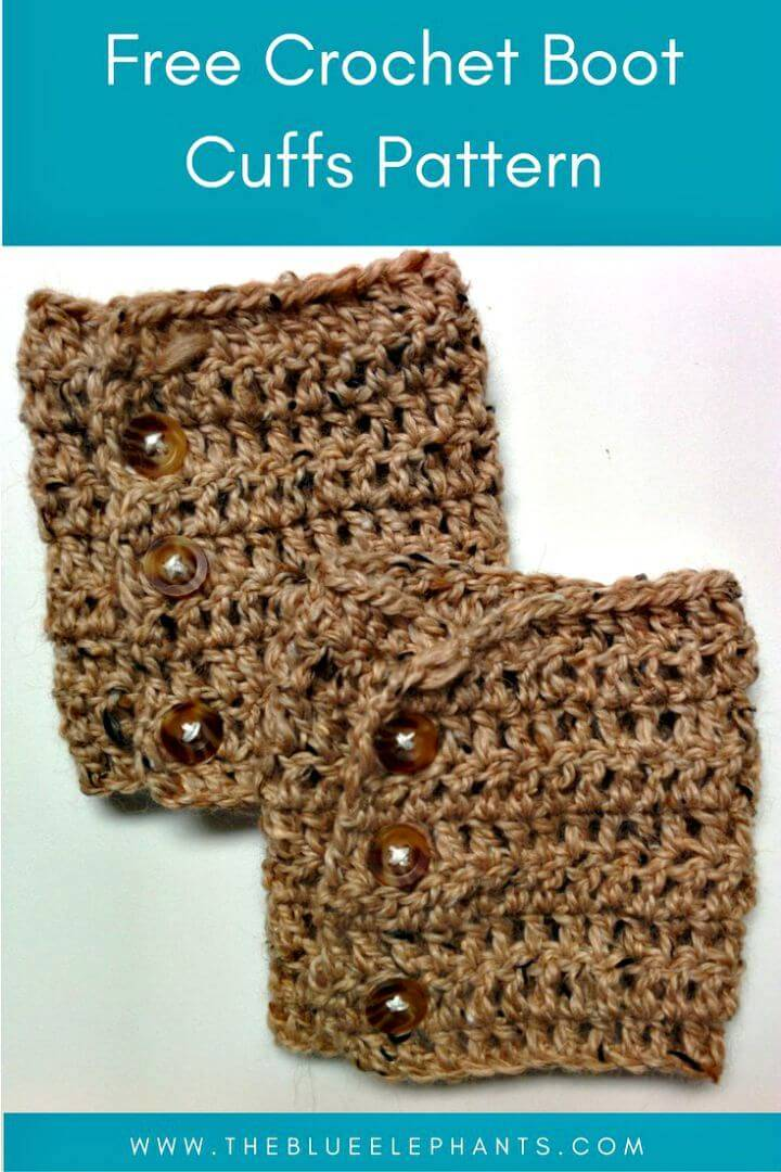 Free Crochet Easy Boot Cuffs Pattern
