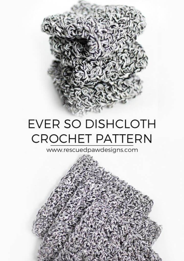 Free Crochet Easy Dishcloth Pattern