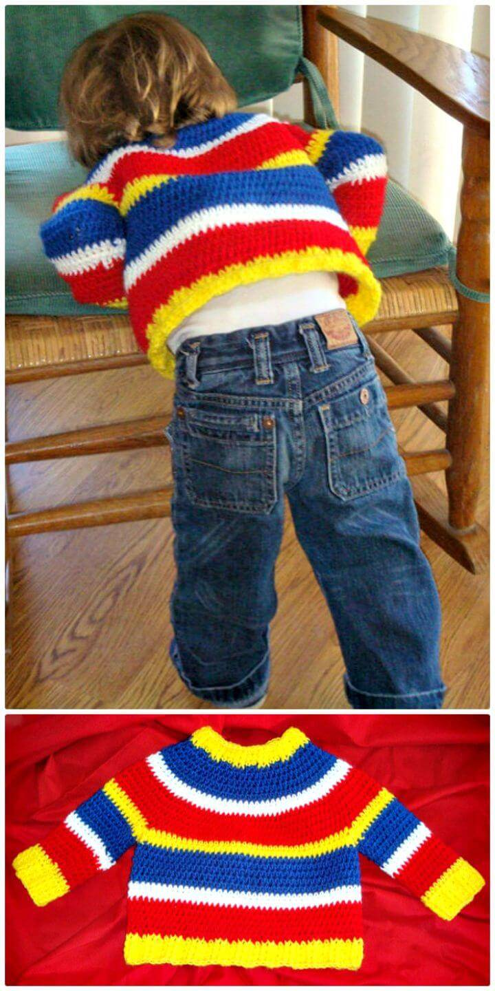 14 Free Crochet Sweater Patterns For Babies Diy Crafts
