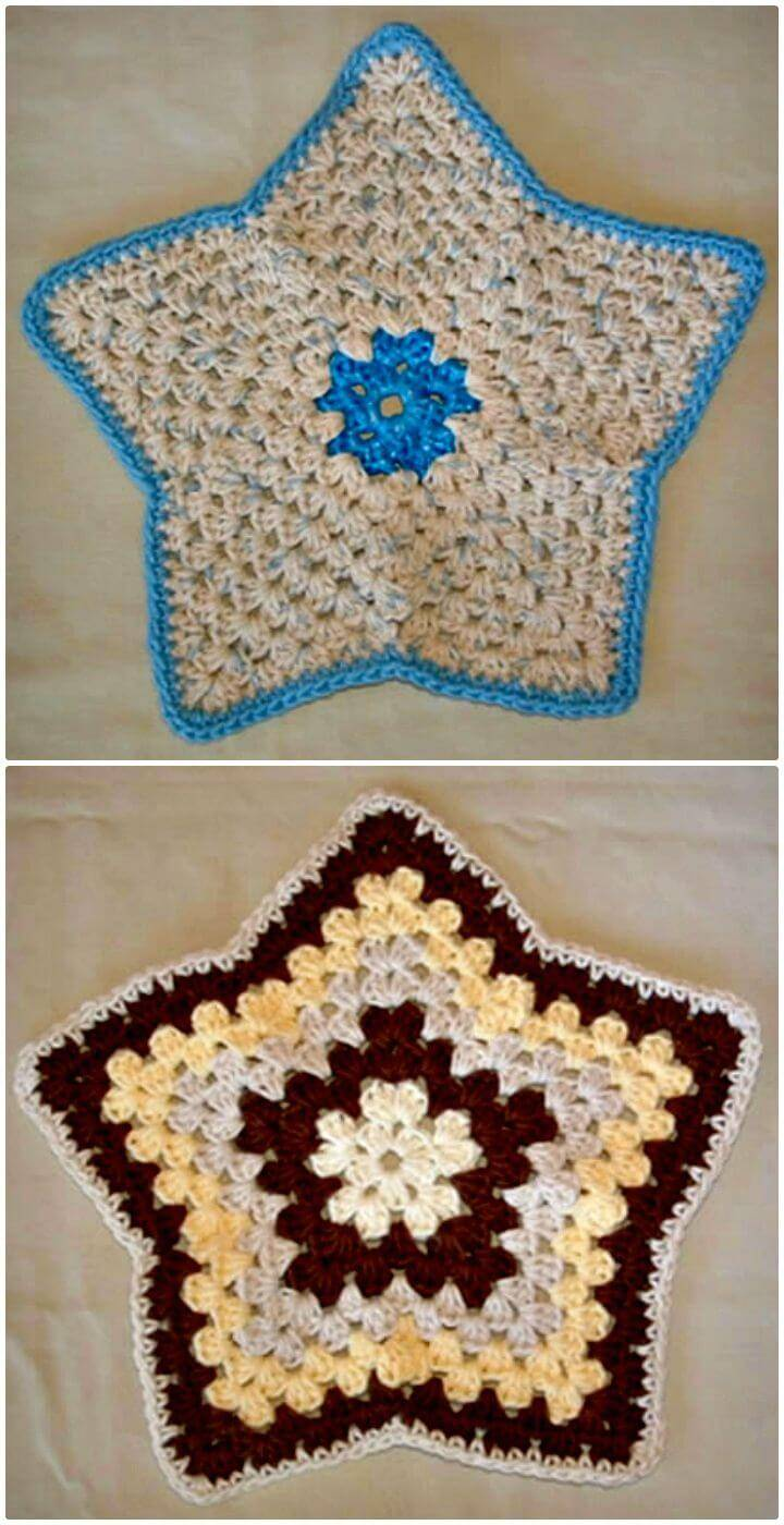 Crochet Easy My Star Dishcloth - Free Pattern