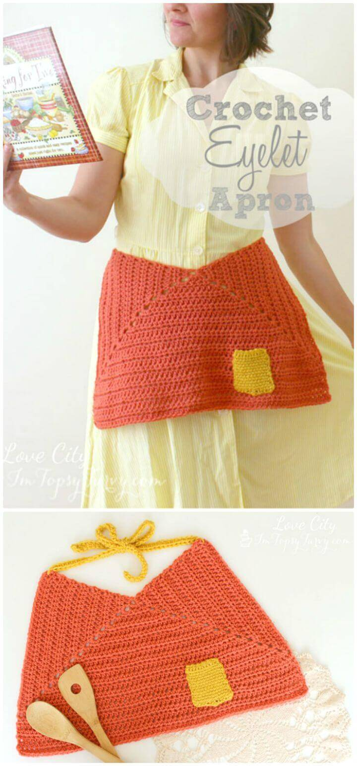 How To Free Crochet Eyelet Apron Pattern