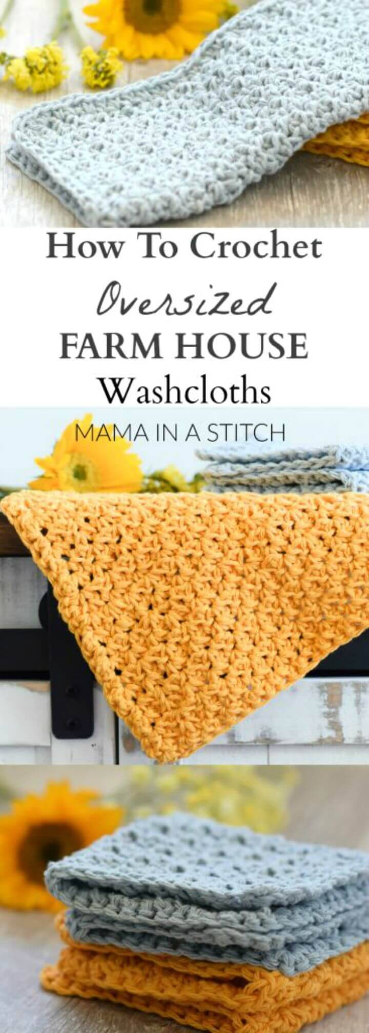 How to Crochet Farm House Washcloth - Free Pattern