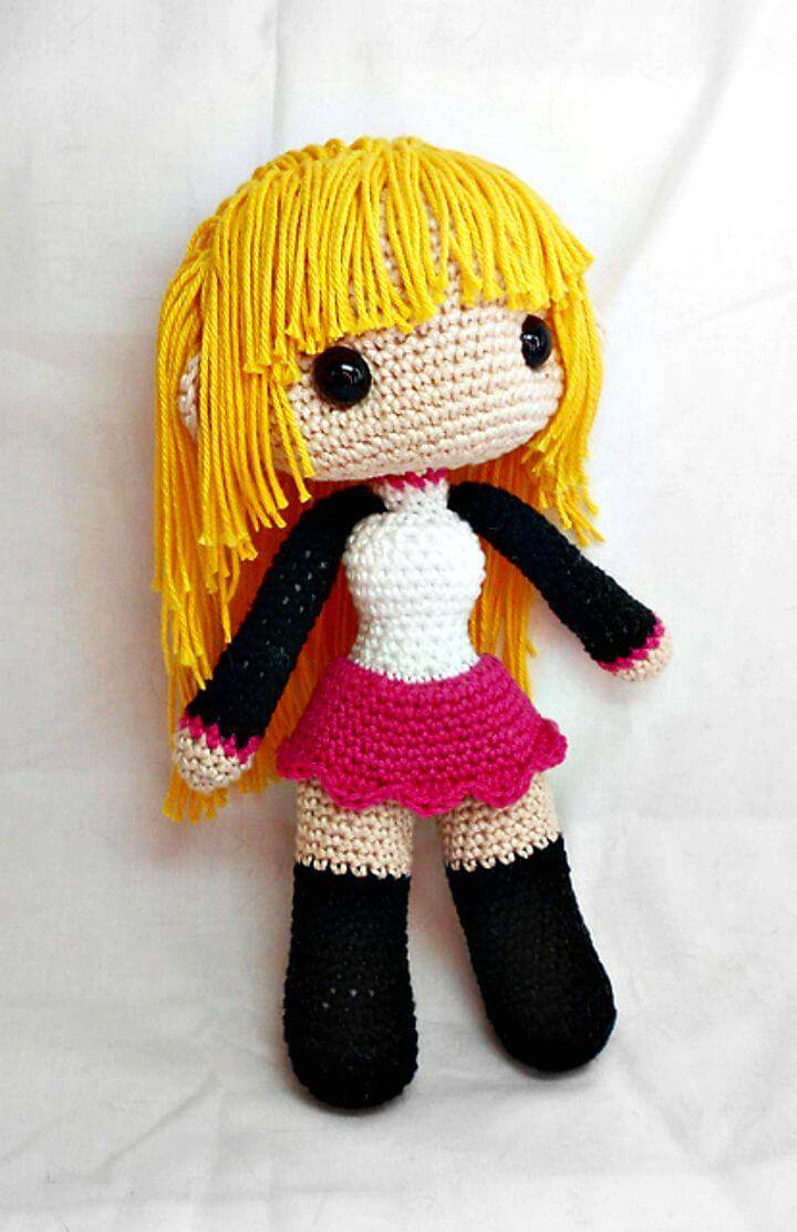 Free Crochet Female Doll Base Amigurumi Pattern