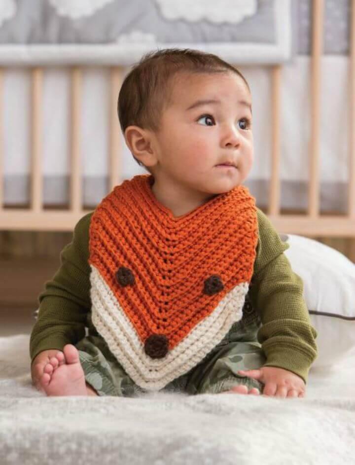Free Finley Crochet Fox Bib Pattern