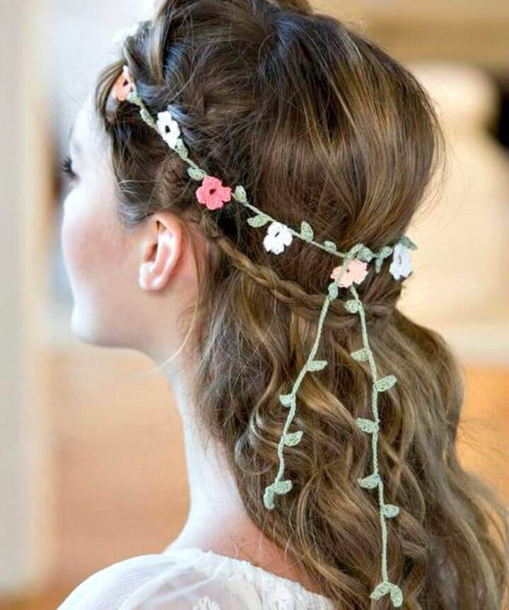 Free Crochet Floral Headband Pattern