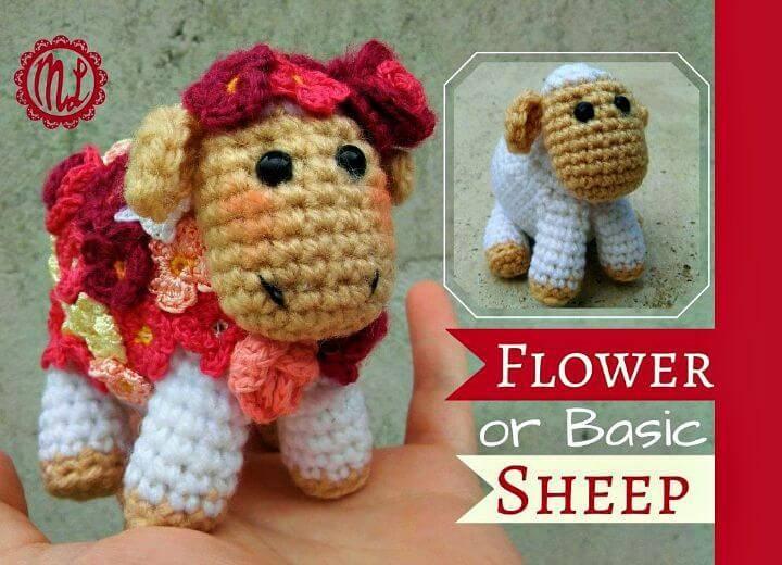 How To Crochet Flower Sheep Free Amigurumi Pattern
