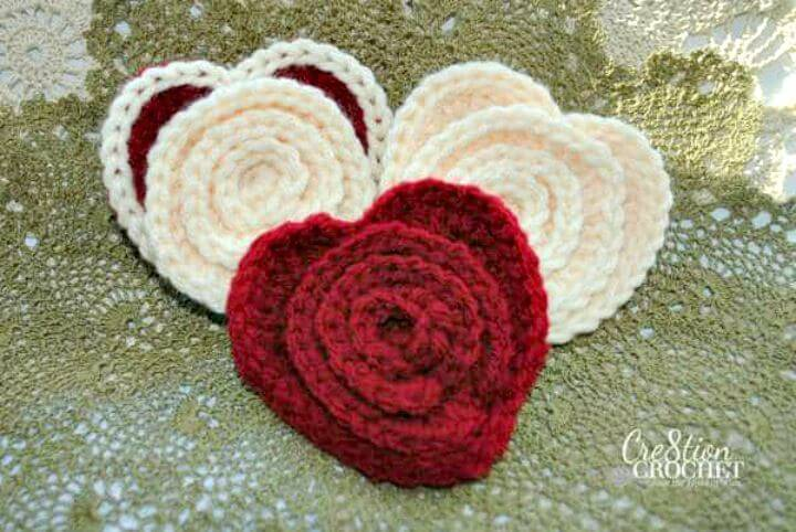 How To Free Crochet Flower in a Heart Pattern