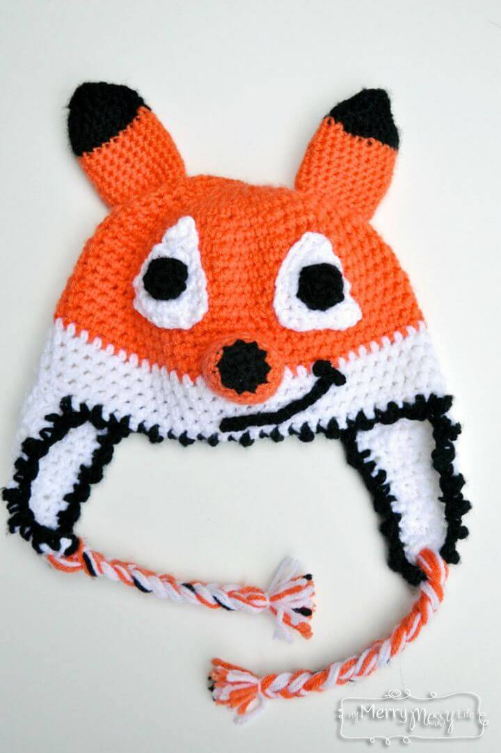 How To Crochet Fox Beanie – Free Pattern