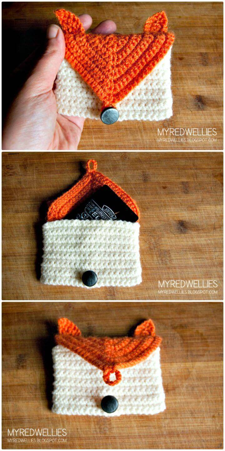How To Free Crochet Fox Gift Card Holder Pattern