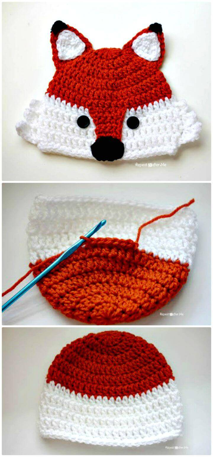 Crochet Fox Hat-A Free Pattern