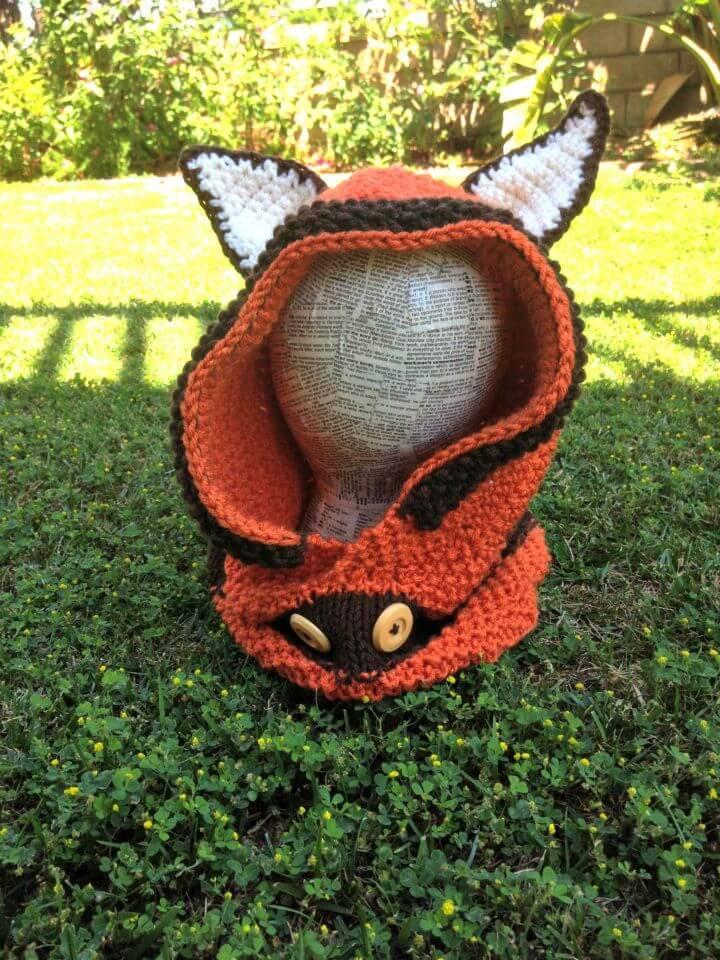 Free Crochet Fox Hoodie Pattern