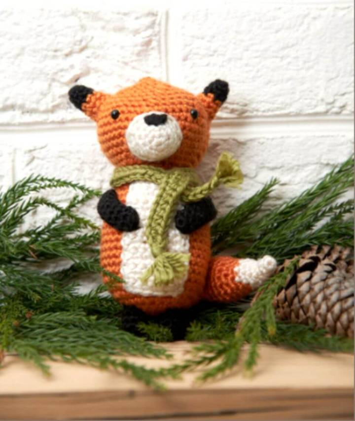 Free Crochet Fox Ornament Pattern